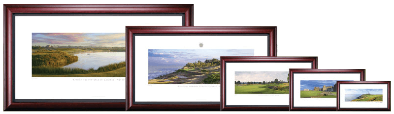Stonehouse Golf Collection - Comparison of Framed Giclee prints.