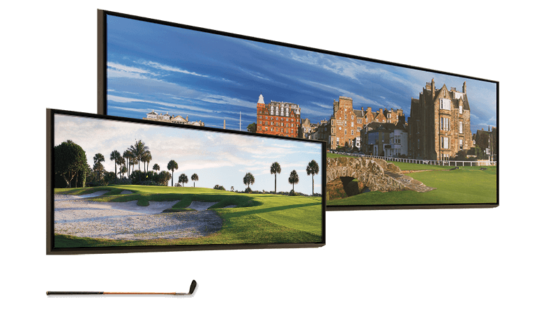 Stonehouse Golf - Comparison of canvas golf prints.